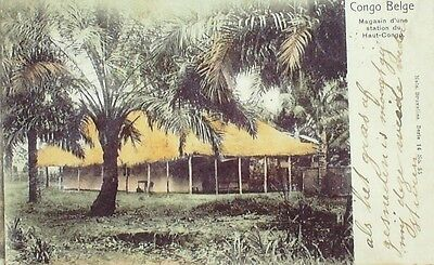 CPA-A299-MAGASIN d'une STATION-CONGO BELGE-1907