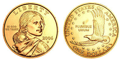 2006 Native American Sacagawea Dollar Coin Set P & D Business Uncirculated