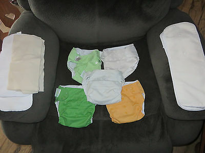 BumGenius 4.0 Cloth Diaper Snap Lot with Inserts Neutral Colors FREE SHIPPING