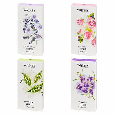 Yardley London Luxury Soaps Scented for Her Body Care Women 3 x 100g