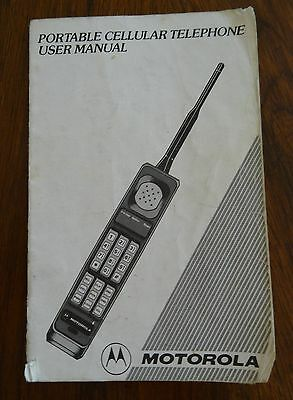 Vintage Motorola Cellular Telephone User Manual The Brick