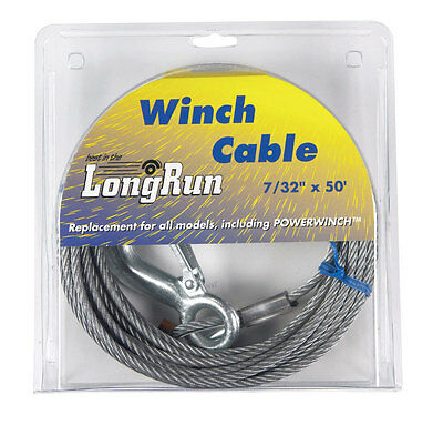 """WINCH CABLE 50' 7/32"""" by TIE DOWN ENG MfrPartNo 59401,60000"""