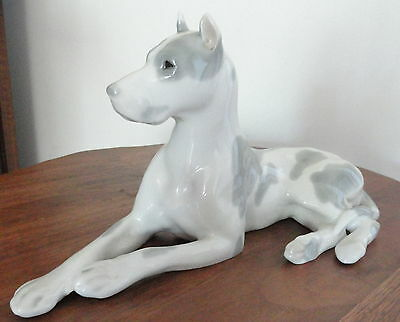 Vintage Russian Porcelain Great Dane Dog By Lomonosov Ussr
