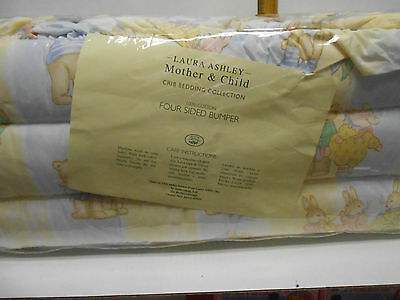 Laura Ashley Mother & Child Rabbits & Bears Four Sided Bumper Crib Bedding