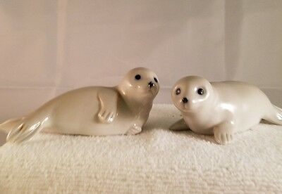 Baby Seals, ©Otagiri, Japan - Porcelain - playful pups