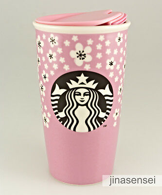 NEW Starbucks 2017 CHERRY BLOSSOM Pink Double Wall Traveler 12 oz SOLD OUT!