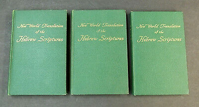 New World Translation of the Hebrew Scriptures Vol 1 2 3 Lot Watchtower 1st Eds
