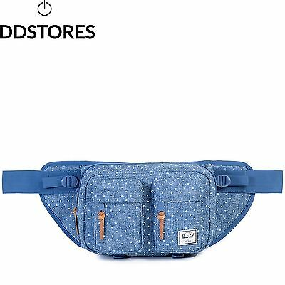 Herschel Supply Company SS16 Sport Waist Pack Limoges Crosshatch White Polka...