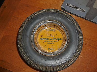 Rare Nice Vintage Goodyear Advertising Tire Ashtray Shell Toronto