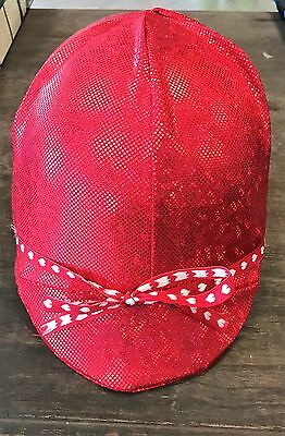 RIDING HELMET COVER - Sparkle Red