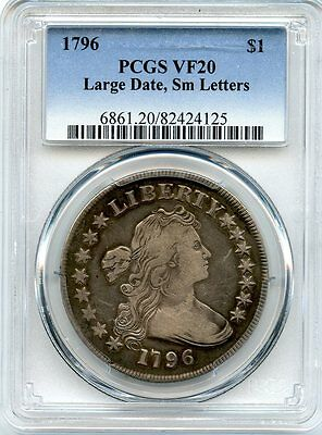 C8480- 1796 Large Date Small Letters Bust Dollar Pcgs Vf20