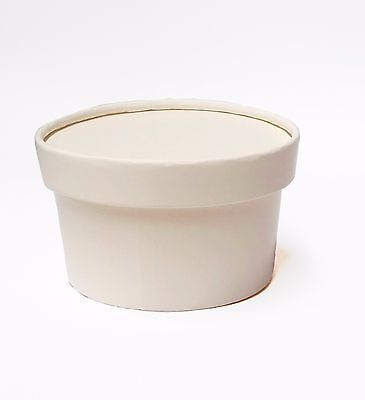Gelato / Ice Cream / Frozen Yogurt, White - Paper cups with lid, 150ml