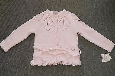 Catherine Malandrino Baby Girls Pink Sweater - Size 24 Months - NWT