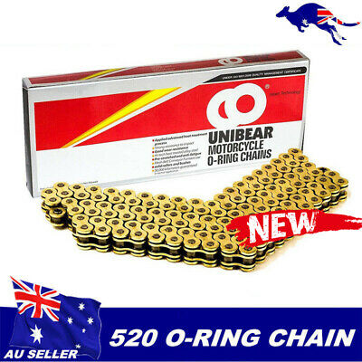 Gold 520 120L CHAIN 120 LINKS O-RING MOTORCYCLE SUZUKI DR350 DRZ400 RMZ450 DR500