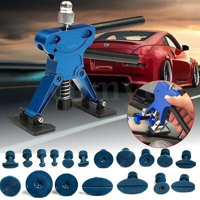 Paintless Dent Removal Lifter Puller + 18x Glue Tab Kit pdr Car Body Repair Tool