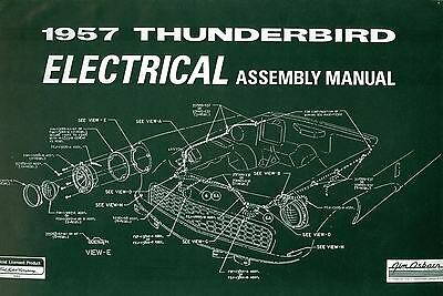 1956 FORD Thunderbird Electrical embly Manual - $24.95 ...  Thunderbird Wiring Schematics on