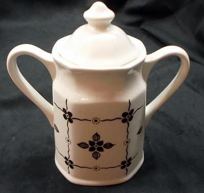 J & G Meakin Royal Staffordshire Liberty 'Homespun Brown' Sugar Bowl with Lid