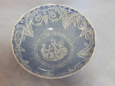 Antique Etruscan Pottery EKB Greek Goddesses Footed Bowl