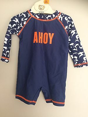 Boys Baby Swimmers Bathers Suit Blue UPF50+ 00 Target