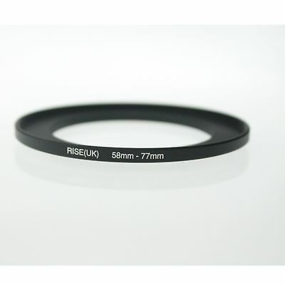 RISE(UK)58-77 58-77mm 58mm to 77mm Matel Step Up  Ring Filter Adapter