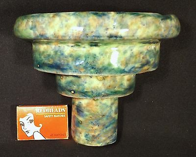 1930's Australian Pottery Tiered Art Deco Wall Pocket Vase Bosley Mitcham Sa.