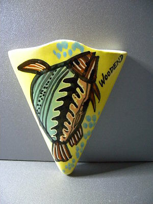 Vintage Ceramic Wall Pocket Vase Harry Memmott Australian Pottery