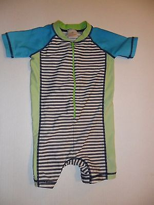 Hanna Andersson Baby Boys Swimmy Rash Guard Baby Suit 1 Pc, 80 (18-24 MO)