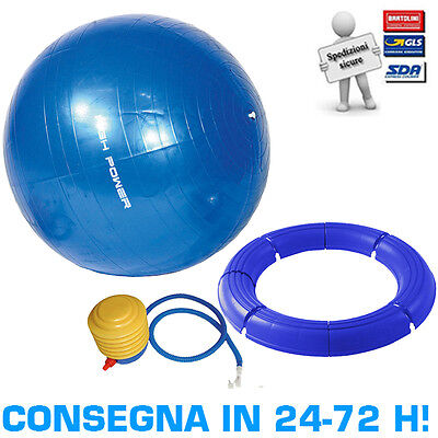 Kit Pilates High Power Palla Ginnica Gymball Fitball 65cm + Base Smontabile