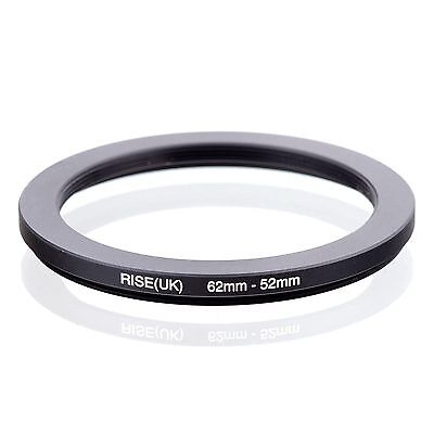RISE(UK)  62-52 62-52mm  Matel Step Down Ring Filter Camera Adapter 62-52