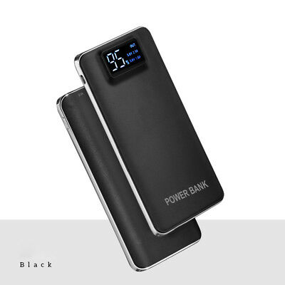 AU Portable Slim 50000mAh 2 USB LCD Powerbank LED Battery Charger For Smartphone