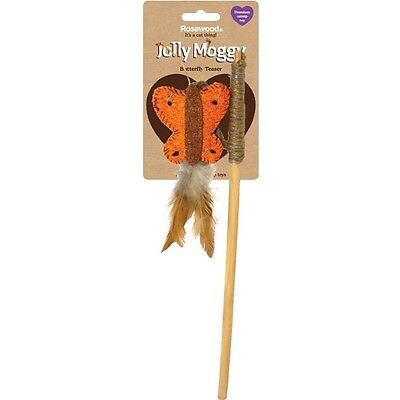 Rosewood Jolly Moggy Butterfly Teaser Wand, Cat Kitten Toy