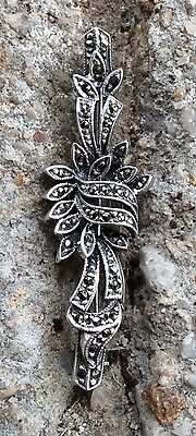 New Marcasite Brooch 925 Sterling Silver