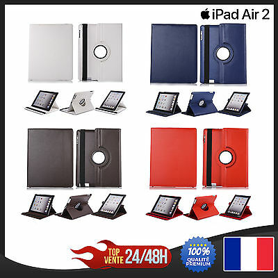 iPad Air 2  Cuir Housse Cover Etui Couverture Coque protection couleu