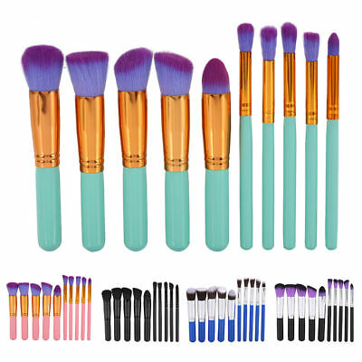 Pro Makeup 10pcs Brushes Set Eyeshadow Eyeliner Lip Brush Powder Foundation Tool