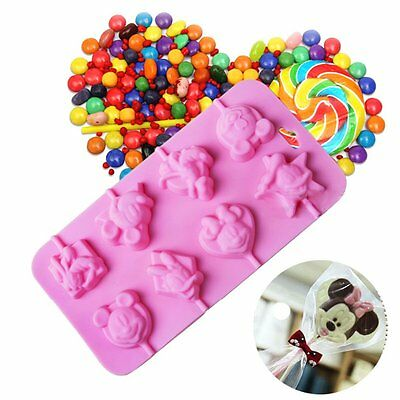 5/8lattices Cartoon Silicone lollipop Mold Baking Fondant Chocolate Mould AU