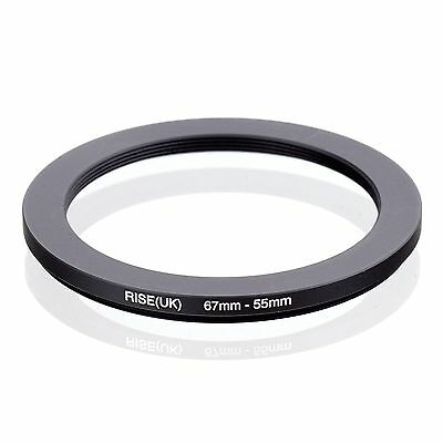 RISE(UK)  67-55MM 67 MM- 55MM 67 to 55 Step Down Ring Filter Adapter