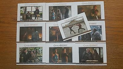 Game of Thrones Season 5 Relationships 10 Card Insert Set Card #DL21-30