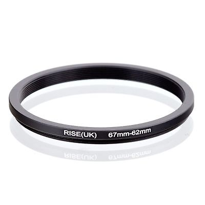 RISE(UK) 67-62MM 67 MM- 62 MM 67 to 62 Step Down Ring Filter Adapter 67-62