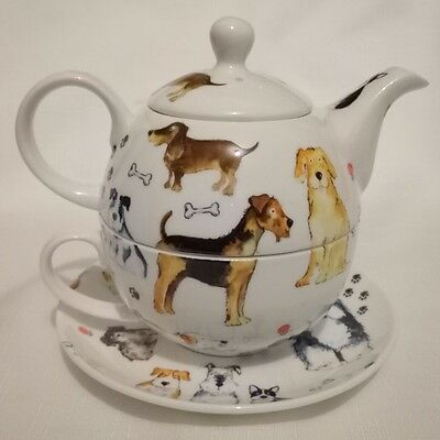 Walkies - Dogs  Fine Bone China Tea for one