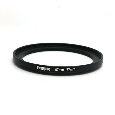 RISE(UK) 67mm-77mm 67-77 mm 67 to 77 Metal Step Up Lens Filter Ring Adapter