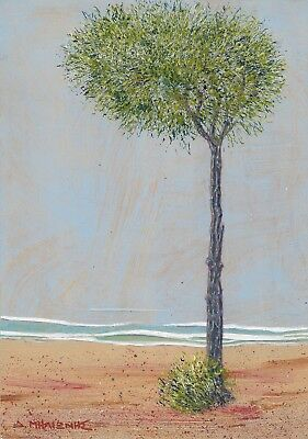 "Dimitris C. Milionis ""TREE"" Signed Painting Mount Cardboard 250gr Greek Art 2009"