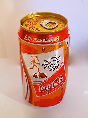 1 Can Coca-Cola Olympic Torch Relay Athens 2004 China 355ml. #C323