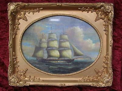 Gilt Framed Sailing Ship Print Painting Picture