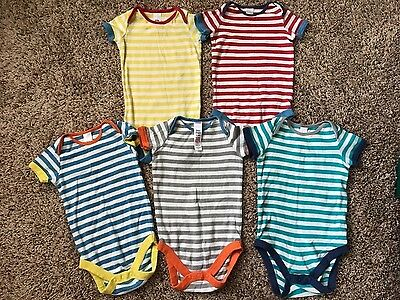 Baby Boden ~ Boys Striped Short Sleeve Top ~ Set of 5 ~ 6-12 Months