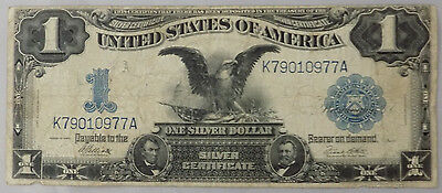 Series 1899 $1 Large Size Black Eagle Silver Certificate Choice Fine+ Fr# 235