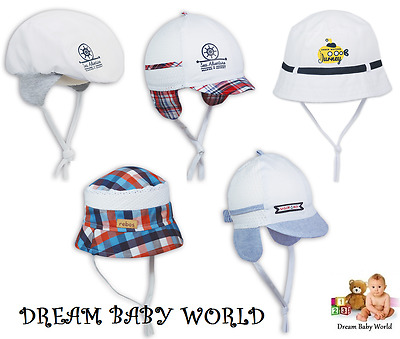 RICH Cotton summer Baby boys sun HAT newborn - 24 months TIE UP Cap BOY