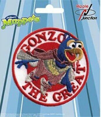 The Muppets TV Show Gonzo Character Face Embroidered Patch, NEW UNUSED