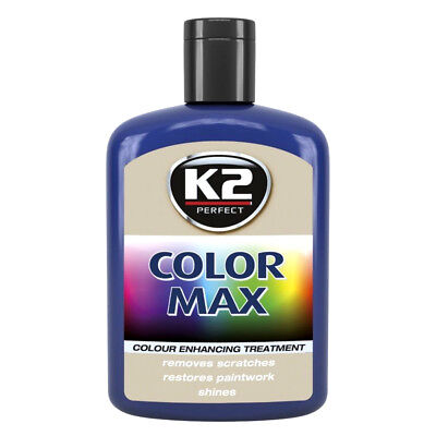 Blue Color Max Car Paint Polish Colour Restorer Cover Scratches Enhance Lustre