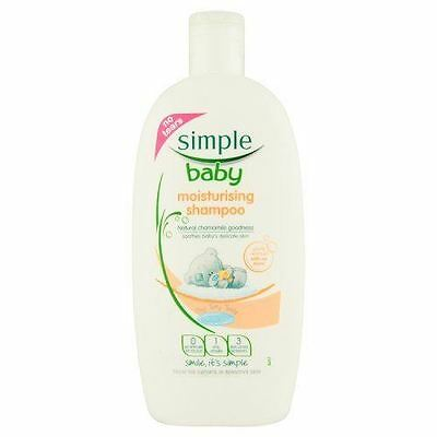 6 Packs of Simple Baby Moisturising Shampoo 300ml