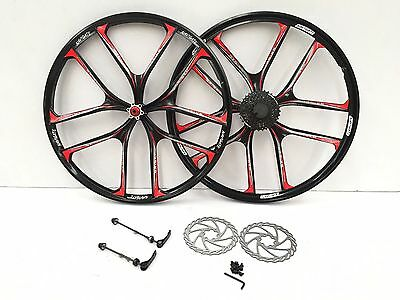 "New 27.5"" inch Bike 10 Spoke Magnesium Alloy Wheel with 9pcs freewheel, disc"